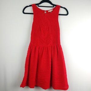 Anthropologie Bordeaux Dark Coral Dress Size XS-P